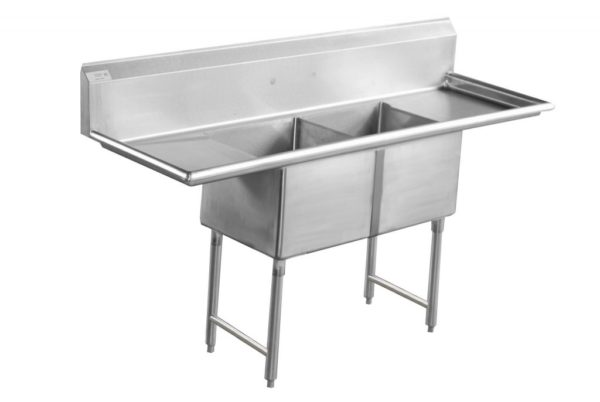 2 bowl sink with 2 drainboards
