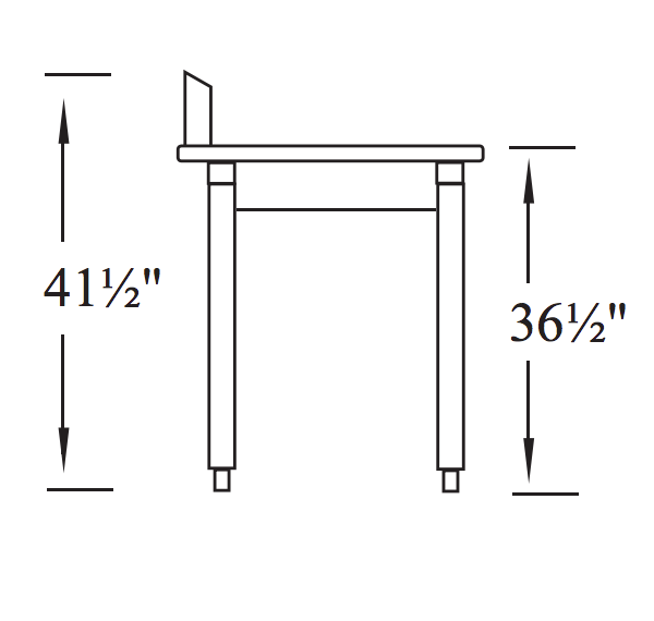 soiled dish table Side Specs