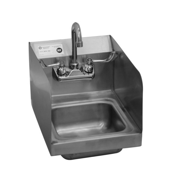 handsink with double side splashes
