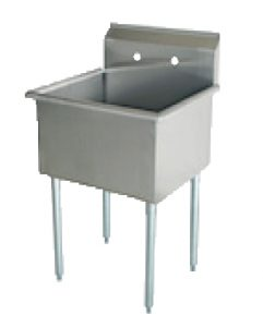 1 Bowl Budget Sink - 18 Gauge 430 Stainless Non NSF
