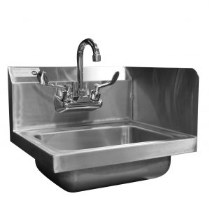 Hand Sink with Right Splash Guard