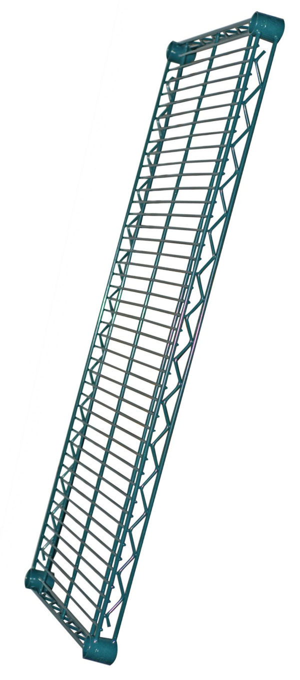 Green Epoxy Wire Shelving
