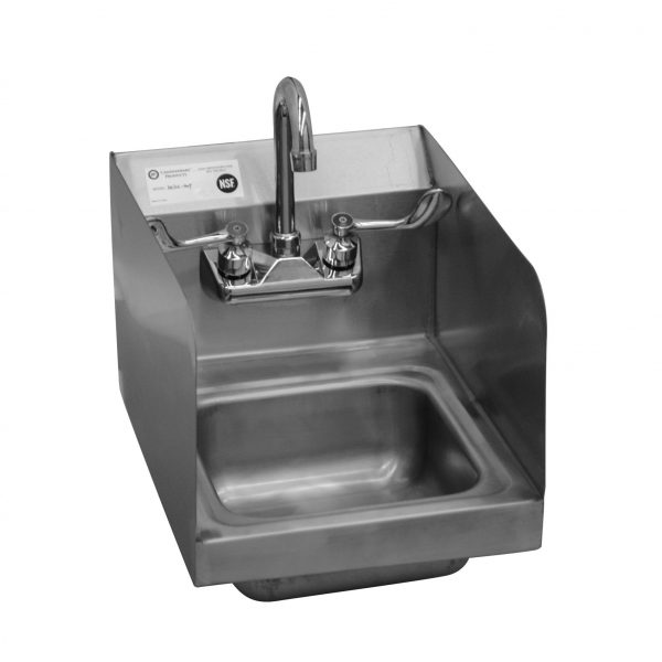 Hand Sink with Double Splash Guard